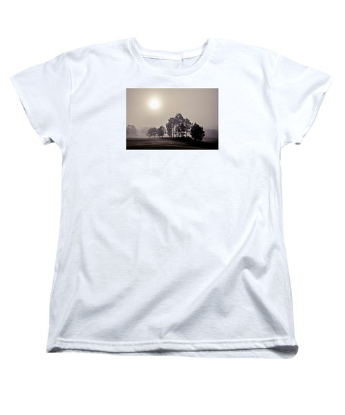 Women's T-Shirt (Standard Cut) featuring the photograph Morning Calm by Annette Berglund