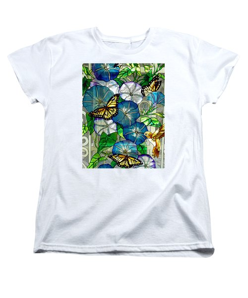 Morning Glory Women's T-Shirt (Standard Cut) by Diane E Berry