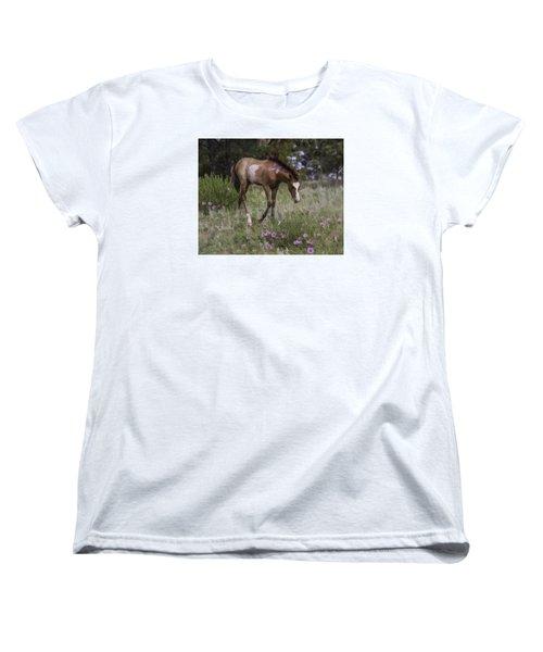 Morning Glory Women's T-Shirt (Standard Cut) by Elizabeth Eldridge