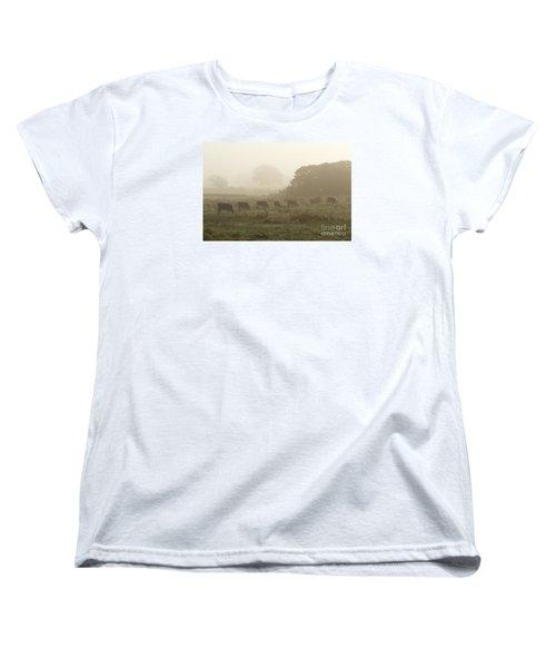 Morning Graze Women's T-Shirt (Standard Cut) by Gary Bridger