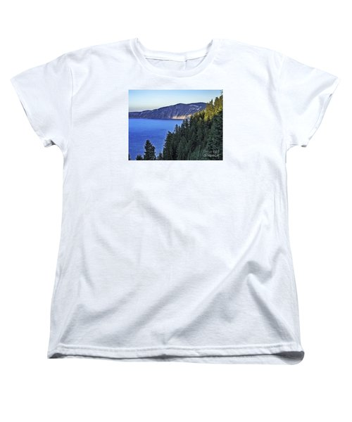 Morning Light At Crater Lake, Oregon Women's T-Shirt (Standard Cut) by Nancy Marie Ricketts