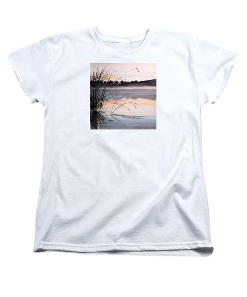 Women's T-Shirt (Standard Cut) featuring the painting Morning Light by John Williams
