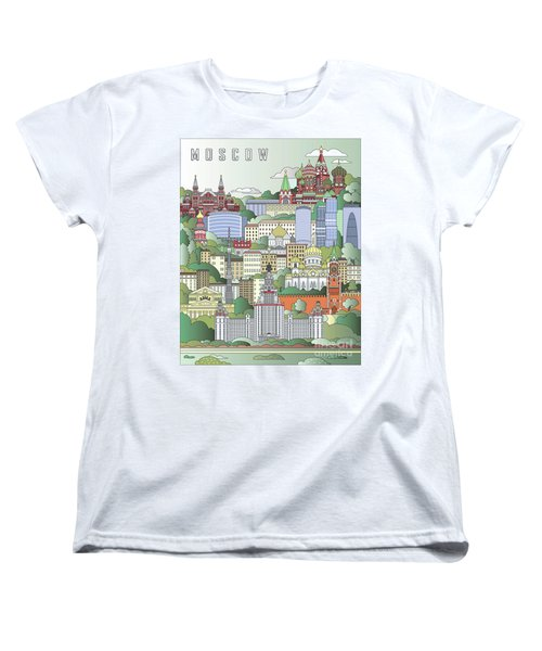 Moscow City Poster Women's T-Shirt (Standard Cut) by Pablo Romero