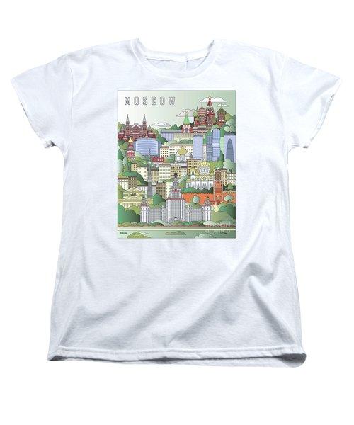 Moscow City Poster Women's T-Shirt (Standard Cut)