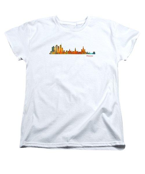 Moscow City Skyline Hq V1 Women's T-Shirt (Standard Cut)