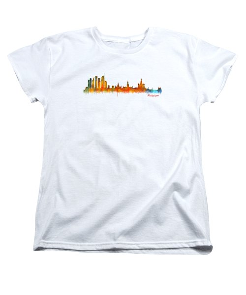 Moscow City Skyline Hq V2 Women's T-Shirt (Standard Cut) by HQ Photo