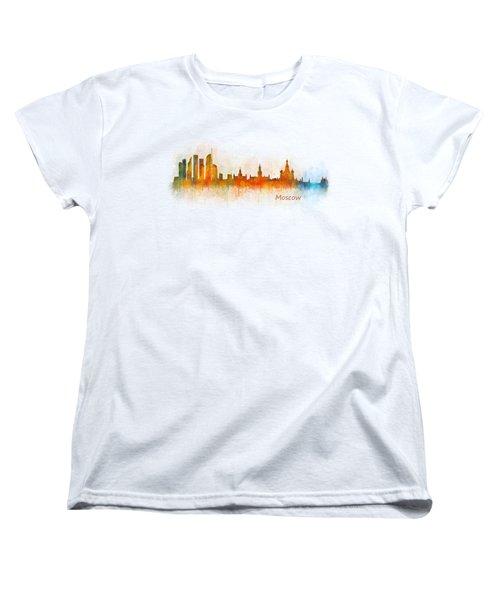Moscow City Skyline Hq V3 Women's T-Shirt (Standard Cut)