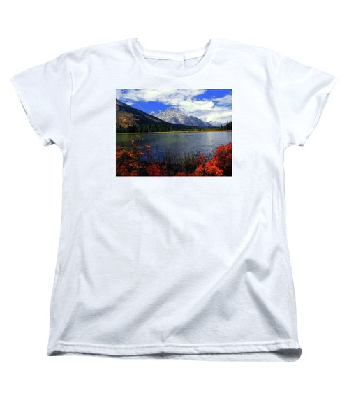 Women's T-Shirt (Standard Cut) featuring the photograph Mount Moran In The Fall by Raymond Salani III