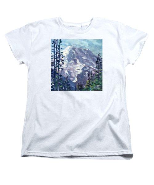 Mount Rainier From Sunrise Point Women's T-Shirt (Standard Cut) by Donald Maier