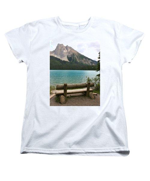 Mountain Calm Women's T-Shirt (Standard Cut) by Catherine Alfidi