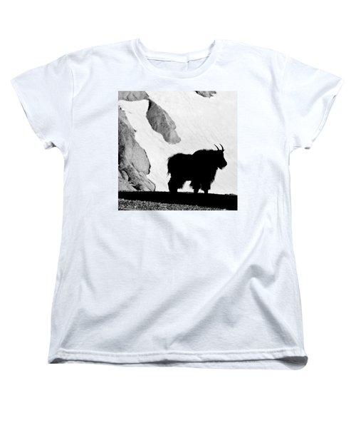 Mountain Goat Shadow Women's T-Shirt (Standard Cut) by Colleen Coccia