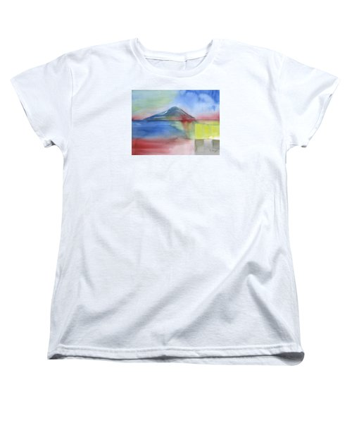 Women's T-Shirt (Standard Cut) featuring the painting Just Before The Rain by Frank Bright