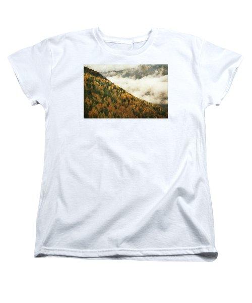 Mountain Landscape Women's T-Shirt (Standard Cut) by Vittorio Chiampan