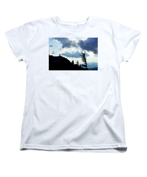 Women's T-Shirt (Standard Cut) featuring the photograph Mountain Peak by Meta Gatschenberger