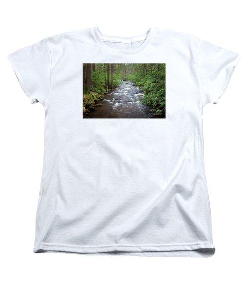 Mountain Stream Laurel Women's T-Shirt (Standard Cut) by John Stephens