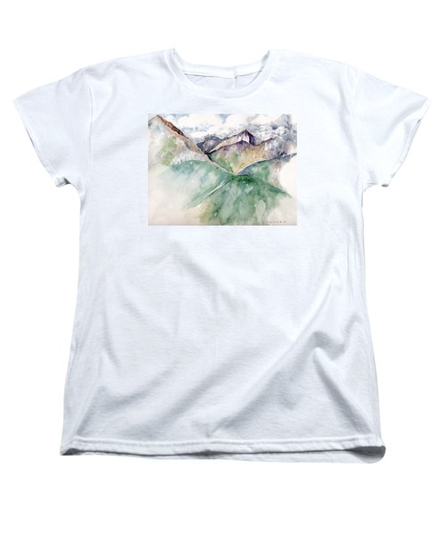 Mountain View Colorado Women's T-Shirt (Standard Cut) by Catherine Twomey