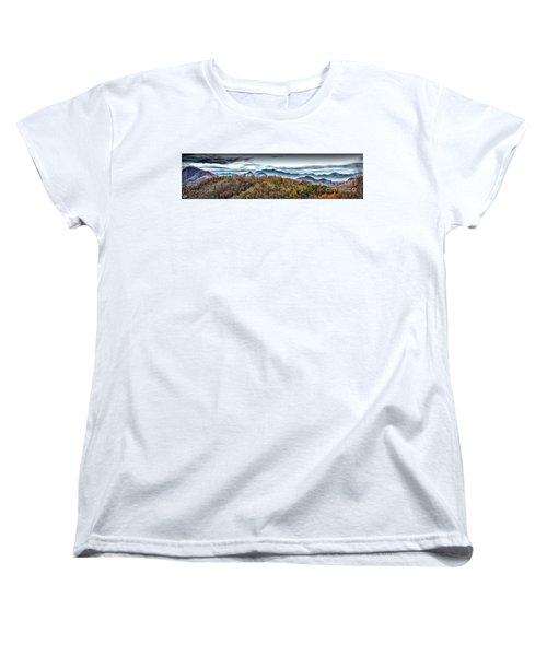 Women's T-Shirt (Standard Cut) featuring the photograph Mountains 2 by Walt Foegelle