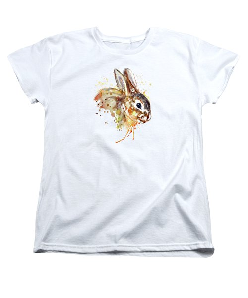 Women's T-Shirt (Standard Cut) featuring the mixed media Mr. Bunny by Marian Voicu