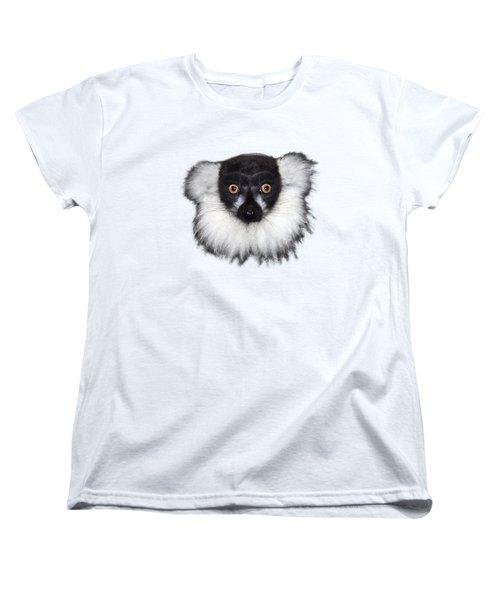 Mr Lemur On Transparent Background Women's T-Shirt (Standard Cut) by Terri Waters