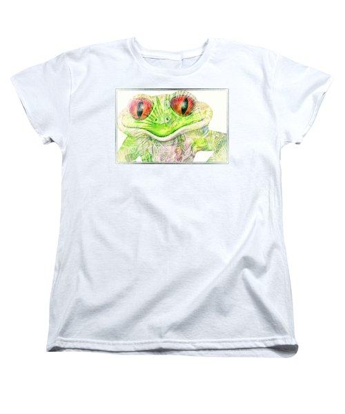 Mr Ribbit Women's T-Shirt (Standard Cut) by Pamela Williams