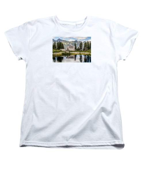 Mt Baker Lodge In Picture Lake 1 Women's T-Shirt (Standard Cut) by Rob Green