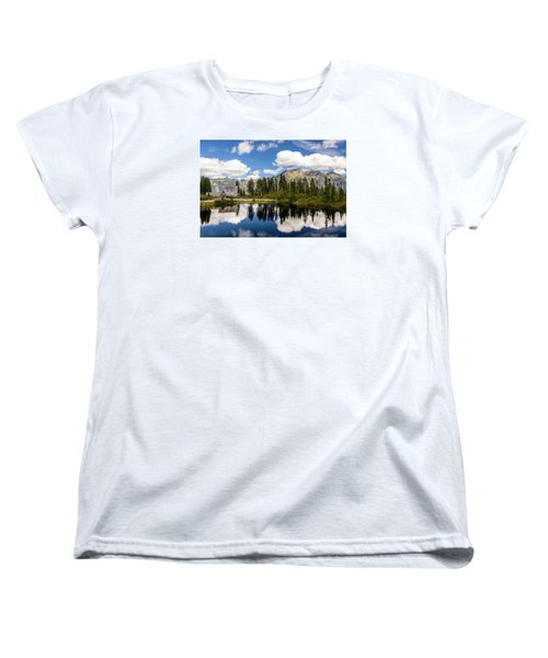 Mt Baker Lodge Reflection In Picture Lake 2 Women's T-Shirt (Standard Cut) by Rob Green