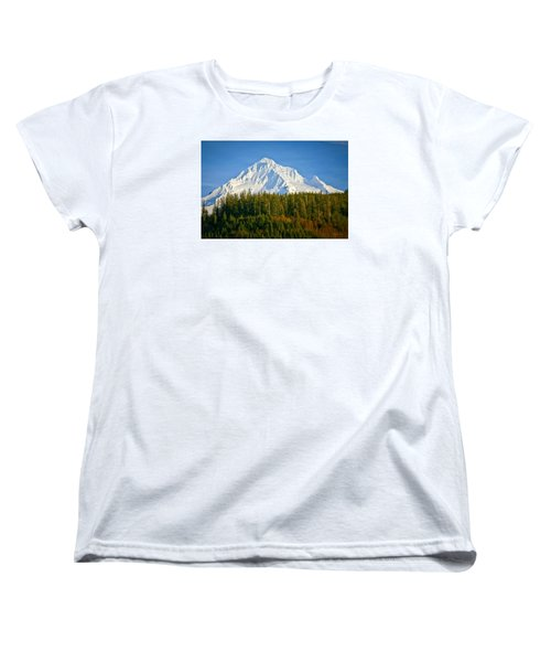 Mt Hood In Winter Women's T-Shirt (Standard Cut) by Albert Seger