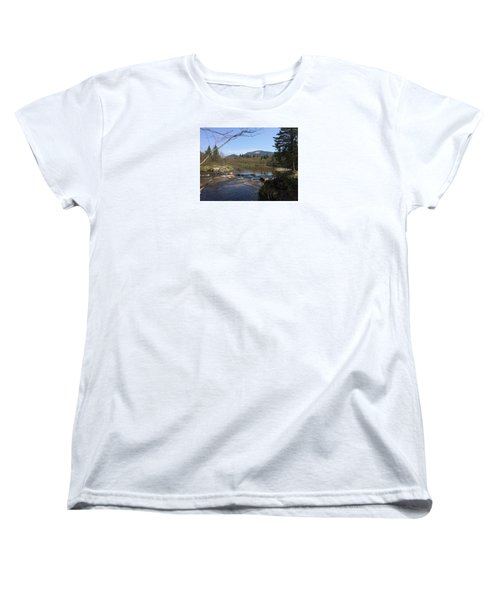Mt. Katahdin Women's T-Shirt (Standard Cut) by Robin Regan