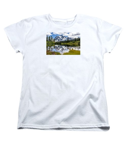 Mt Shuksan On Picture Lake 1 Women's T-Shirt (Standard Cut) by Rob Green