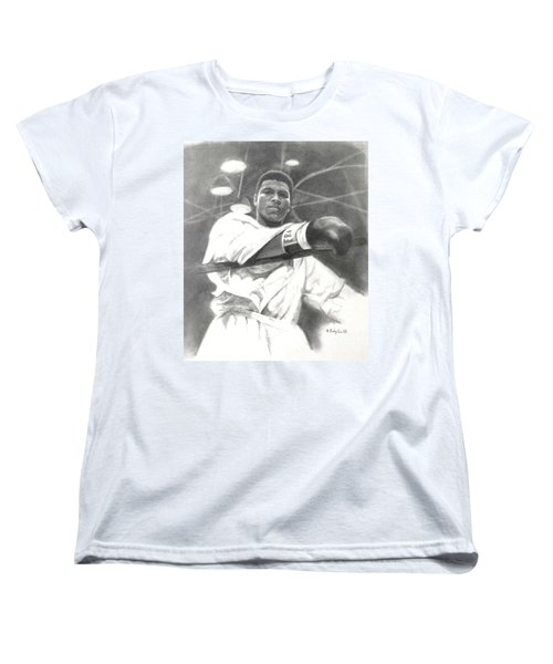 Women's T-Shirt (Standard Cut) featuring the drawing Young Cassius Clay by Noe Peralez