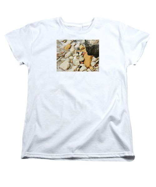 multi colored Beach rocks Women's T-Shirt (Standard Cut) by Expressionistart studio Priscilla Batzell