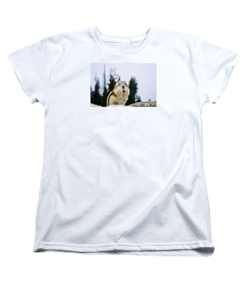 Women's T-Shirt (Standard Cut) featuring the photograph Munching by Janie Johnson