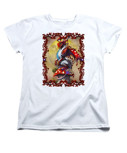 Women's T-Shirt (Standard Cut) featuring the digital art Mushroom Dragon T-shirts by Stanley Morrison
