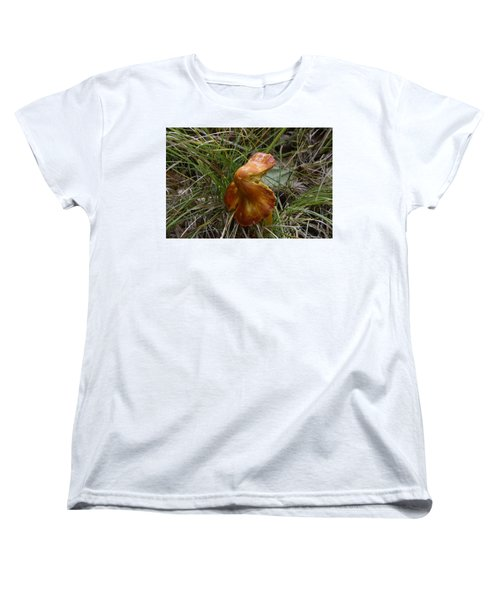 Women's T-Shirt (Standard Cut) featuring the photograph Mushroom In Grass by Paul Freidlund