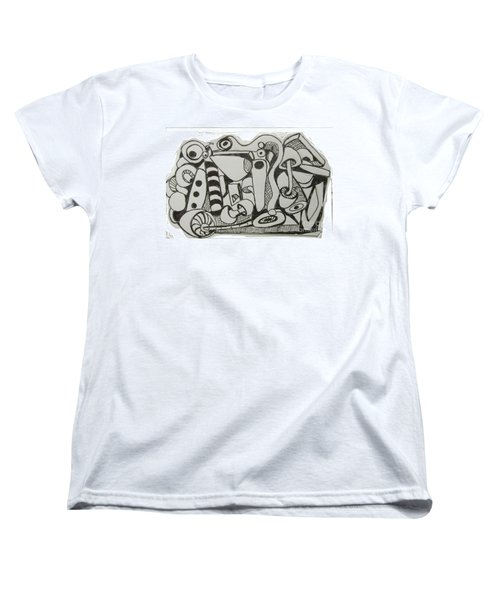 Mushroom Powered Engine 004 - Bellingham - Lewisham Women's T-Shirt (Standard Cut) by Mudiama Kammoh