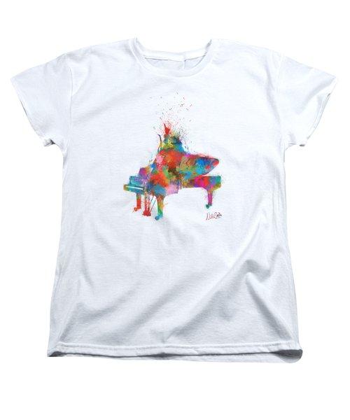 Music Strikes Fire From The Heart Women's T-Shirt (Standard Cut)