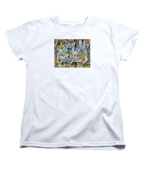 Musical Abstraction  Women's T-Shirt (Standard Cut) by Rita Fetisov