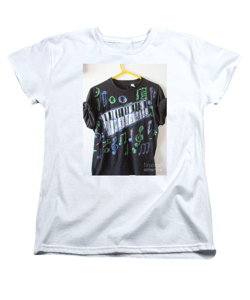 Women's T-Shirt (Standard Cut) featuring the painting Musician Tee Shirt - Sierra Leone by Mudiama Kammoh