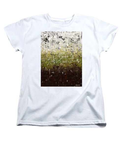Women's T-Shirt (Standard Cut) featuring the painting Musing by Carmen Guedez
