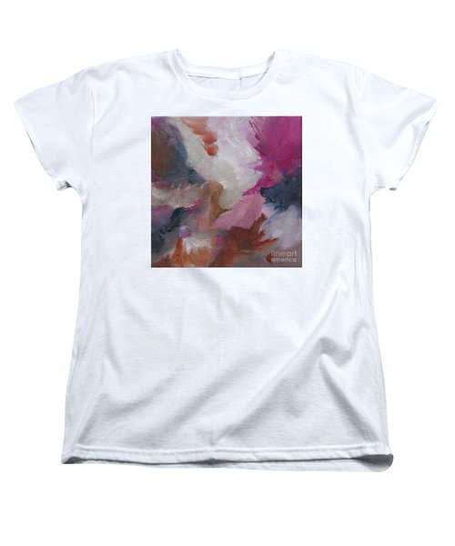Women's T-Shirt (Standard Cut) featuring the painting Musing124 by Elis Cooke