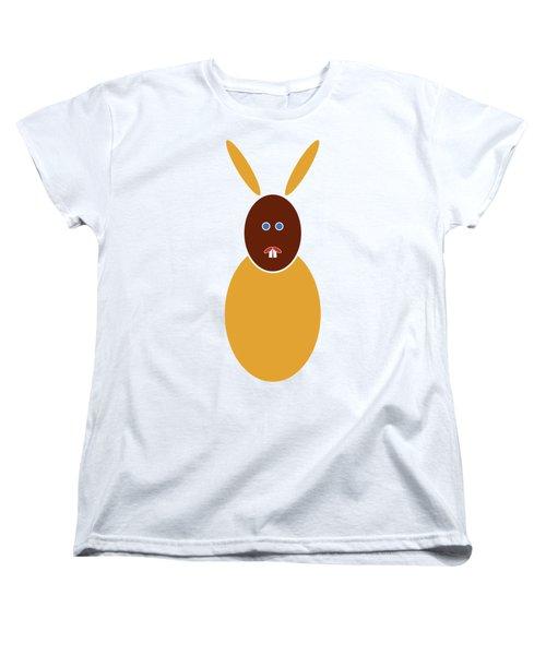 Women's T-Shirt (Standard Cut) featuring the painting Mustard Bunny by Frank Tschakert
