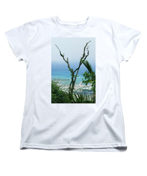 My Favorite Wishbone Between A Mountain And The Beach Women's T-Shirt (Standard Cut) by Heather Kirk