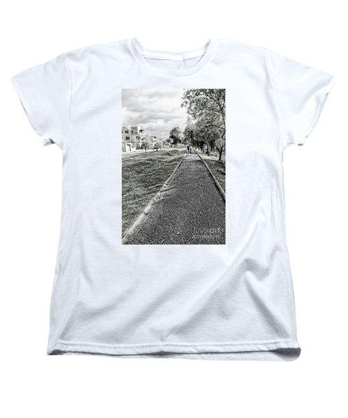 Women's T-Shirt (Standard Cut) featuring the photograph My Street II by Al Bourassa