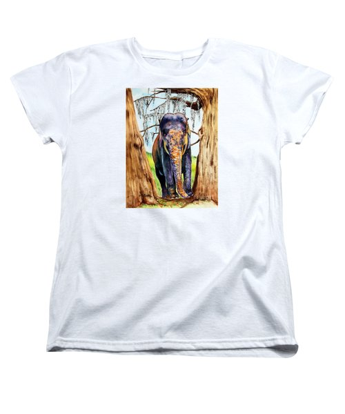 Women's T-Shirt (Standard Cut) featuring the painting Mysore by Maria Barry