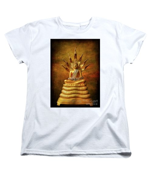 Women's T-Shirt (Standard Cut) featuring the photograph Naga Buddha by Adrian Evans