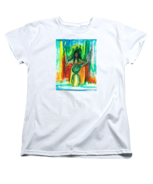 Women's T-Shirt (Standard Cut) featuring the painting Native Awakenings by Kicking Bear  Productions