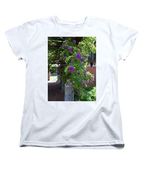Native Wisteria Vine I Women's T-Shirt (Standard Cut) by Angela Annas