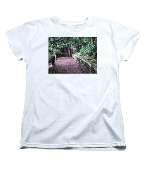 Women's T-Shirt (Standard Cut) featuring the photograph Nature Trail by Cathy Harper
