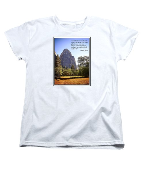 Women's T-Shirt (Standard Cut) featuring the photograph Natures Cathedral by Glenn McCarthy Art and Photography