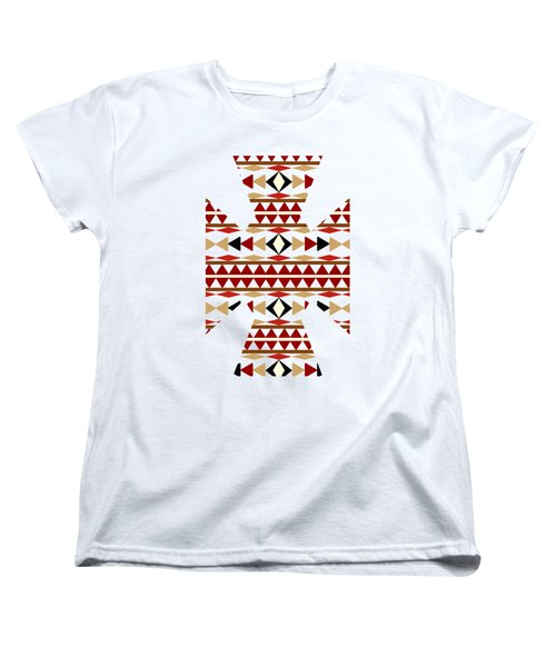 Navajo White Pattern Art Women's T-Shirt (Standard Cut) by Christina Rollo